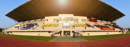 Universitaire sportendag in het openluchtstadion Royalty-vrije Stock Fotografie