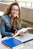 Universitaire studentenstudie royalty-vrije stock fotografie