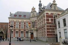 Universitaire Zaal van de Universiteit van Utrecht in Dom Square, Netherl Royalty-vrije Stock Afbeeldingen