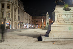 Universitate square in the night Royalty Free Stock Image