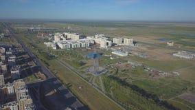Universiteit in Astana Complex met een vogelperspectief stock videobeelden