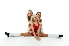 Universiteit cheerleader stock fotografie