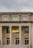 Universiteit die van Menselijke Wetenschappen bij de Staat van Iowa bouwen Stock Foto's