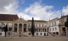 Universiteit van Coimbra, Portugal stock afbeeldingen