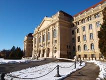 Universiteit van Debrecen in de winter Stock Foto