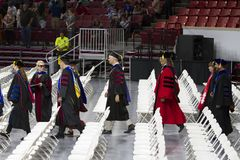 Universiteit van het beginceremonie van Oklahoma Stock Afbeelding