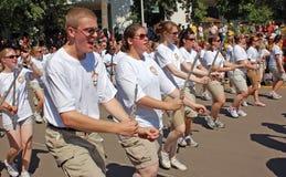 Universiteit van het Marcheren van Minnesota Band Stock Afbeeldingen