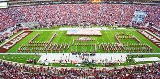 Universiteit van het Miljoen dollarband van Alabama pregame Stock Foto