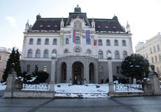 Universiteit van Ljubljana, Slovenië Stock Afbeelding