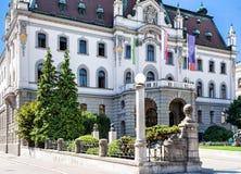 Universiteit van Ljubljana Slovenië Royalty-vrije Stock Foto