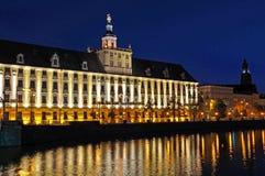 Universiteit van Wroclaw stock foto's