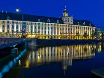 Universiteit in Wroclaw, Polen stock foto's