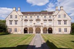 Universiteitsgronden, de universiteit van Cambridge Royalty-vrije Stock Afbeeldingen