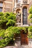 Universiteitsgronden, de universiteit van Cambridge Stock Afbeelding
