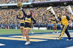 2014 Universiteitsvoetbal - Cheerleaders Stock Fotografie