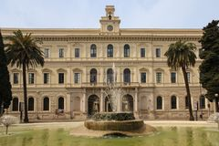 Universitet Aldo Moro _ Apulia eller Puglia italy arkivfoto