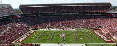 Universitet av Alabama miljon dollarmusikband Bama Spellout Royaltyfria Bilder