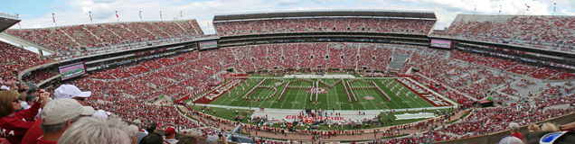 Universitet av Alabama miljon pregame dollarmusikband Fotografering för Bildbyråer