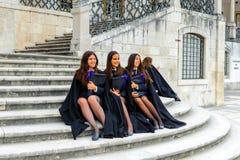 Universitet av Coimbra som är etablerat i 1290 arkivfoto