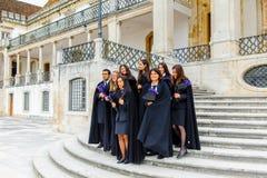 Universitet av Coimbra som är etablerat i 1290 royaltyfria foton