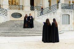 Universitet av Coimbra som är etablerat i 1290 arkivbilder