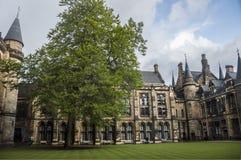 Universitet av Glasgow den inre borggården Arkivbilder