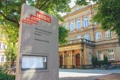 Universitet av konsterna Bremen, Tyskland royaltyfri bild