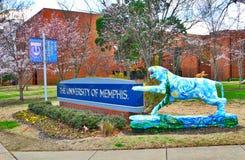 Universitet av Memphis Entrance Sign Arkivbild