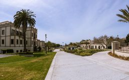 Universitet av San Diego Campus royaltyfria bilder