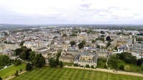 Universitet för flyg- sikt av Oxford den Iconic utbildningsgränsmärket Arkivbilder