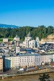 Universitet kyrkliga Kollegienkirche i Salzburg, Österrike Royaltyfri Bild