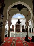 Universitet- och moskéal-Qarawiyyin, Al Quaraouiyine eller al-Karaouine, Fes, Fez, Marocko, Afrika arkivbild