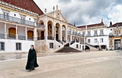 Universitetar av Coimbra Royaltyfria Foton