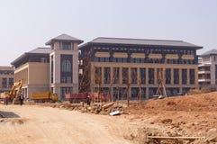 Universitetar av Macao den nya universitetsområdet Fotografering för Bildbyråer