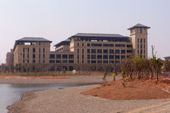 Universitetar av Macao den nya universitetsområdet Royaltyfri Fotografi