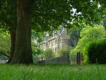 universitetar för högskolaoxford sommar royaltyfria bilder