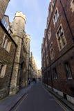 Universitetet av Cambridge är ett college- offentligt forskninguniversitet i Cambridge, England Grundat i 1209 Royaltyfria Foton