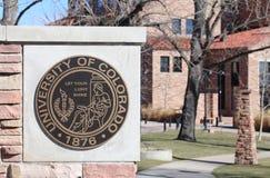 Universitetet av den Colorado stenblocket Royaltyfri Bild