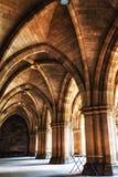 Universitetet av Glasgow Cloisters Royaltyfri Foto