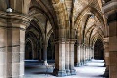 Universitetet av Glasgow Cloisters Arkivfoton