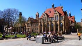 Universitetet av Manchester, Oxford väguniversitetsområde, England arkivbilder