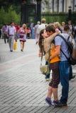 Universitetslärare` t går nu Fotografering för Bildbyråer