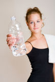 universitetsläraren glömmer hydratot t Arkivbild
