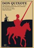 Universitetslärarequixote affisch för lek arkivfoto