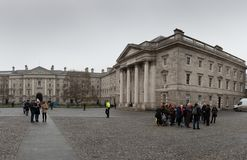 Universitetsområde av Treenighethögskolan som brett är ansedd att vara det mest prestigefulla universitetet i Irland Royaltyfria Foton