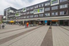 UniversitetsområdePlaza, mathörn på det Wageningen universitetet Arkivfoto