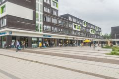 UniversitetsområdePlaza, mathörn på det Wageningen universitetet Royaltyfria Bilder