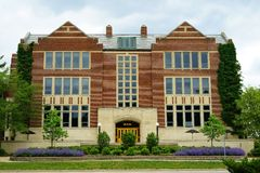 Universitetsområdet av Michiganuniversitetet i East Lansing, MI Arkivbilder