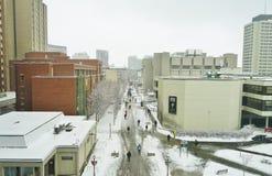 Universitetsområdet av universitetet av Ottawa, Kanada Arkivfoto
