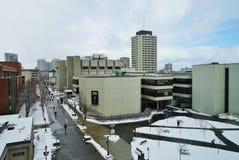 Universitetsområdet av universitetet av Ottawa, Kanada Arkivbild